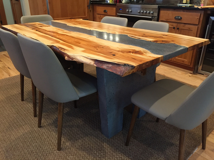 Handcrafted Wood Furniture Seattle WA Solid Wood Dining Table Sets - Custom dining room table and chairs